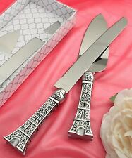 Eiffel Tower Paris Wedding Reception Cake Knife Server, Sweet 16 ,Anniversary
