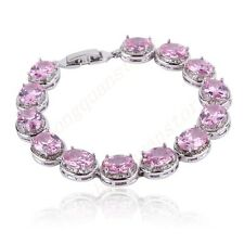 Jewelry Bracelets/Chain Bangle Pink Sapphire Women's White Gold Filled Wedding