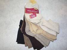 Gold Toe Women's Socks, Womens Turn Cuff Socks, Womens Casual Socks, 4341. Brn