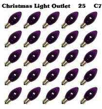 FREE SHIP 25 C7 Purple Transparent Replacement Halloween Christmas Light Bulbs