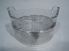 Frank Whiting Ice Bucket - B588 - Antique - American Sterling Silver & Crystal