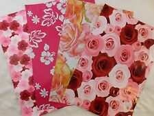 40 10x13 Designer Pink Flower Mailers Poly Shipping Envelopes Boutique Bags Set