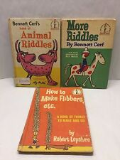 Lot 3 Vintage 1960's Dr. Seuss Books Beginner I CAN READ RIDDLES Cerf & Lopshire