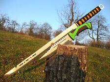 Wunderschöne Zweihand Machete 70 cm + Massives Jagdmesser 32 cm - M001 + J092