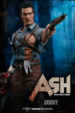 ASH WILLIAMS (Evil Dead 2) Bruce Campbell Sideshow/Hot Toys 1/6 Figure IN STOCK!