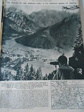 The Watch on The Morgan Line Outpost A U.S. North of Treste 1946 Print Article