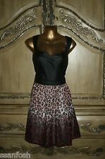 NWT 2b bebe XL Baroque Leopard Leatherette Push Up Bustier Racerback Ombre Dress
