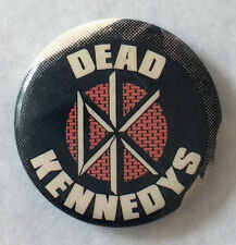 RARE Vintage 70s DEAD KENNEDYS pinback button pin badge punk Jello Biafra band