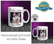 Siberian Husky Personalised Ceramic Mug: Perfect Gift. (D252)