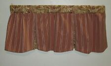 Tent Flap Valance Rose Moire Striped Rose Print Insert Toppers Curtains