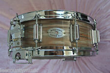 SUPER RARE! 1968 ROGERS PINK STRATA 5X14 WOODEN DYNASONIC SNARE DRUM! LOT #T383