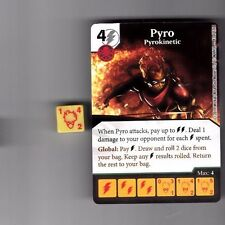 DICE MASTERS UNCANNY X-MEN UNCOMMON #83 PYRO PYROKINECTIC CARD WITH DICE