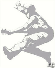 Boy Rock Star with Guitar Sudden Shadow Mini Mural Applique 02192