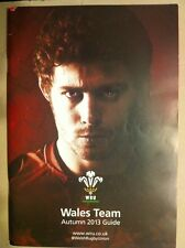 Wales Rugby 2013 Autumn Team Guide