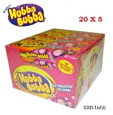 Hubba Bubba 20 Packs Of 5 Original Chewing Gum 100 x Party Birthday FULL BOX