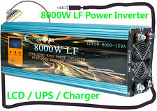 8000W LF Split Phase PSW 24V DC/110V,220V AC 60Hz Power Inverter LCD/UPS/Charger