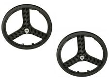 "20"" BMX MAG Plastic 3 spokes Front & Rear Freewheel wheel Black"