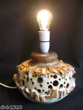 VINTAGE SHELF STUDIO POTTERY HALIFAX RETRO TABLE LAMP EX c.1970's
