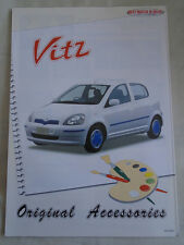 Toyota Vitz Accessories brochure c1999 Japanese text