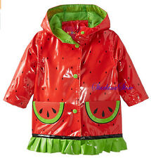 Wippette Coat Baby Girls Watermelon Raincoat Infant Jacket Size 12 M NEW