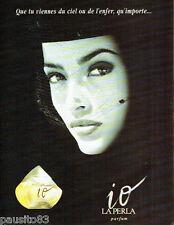 PUBLICITE ADVERTISING 016  1996  LA PERLA   parfum femme IO