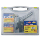3 IN 1 STAPLE GUN HEAVY DUTY HAND UPHOLSTERY 600PC STAPLES STAPLER CABLE DIY NEW