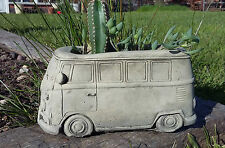STONE GARDEN VW CAMPERVAN PLANTER VEHICLE TROUGH POT