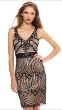SUE WONG Black Nude Beaded Sequin Embellished GATSBY Evening  Dress 4