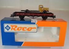 Roco H0 46480 Rungenwagen R10 mit MB LKW 2-achsig der DB KKK & NEM OVP #4231
