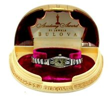 1930 BULOVA ACADEMY AWARD 6AP 15j 14K Solid Gold Diamond Sapphire Watch w/ Box