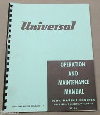 UNIVERSAL OPERATION AND MAINTENANCE MANUAL for marine engines Vintage