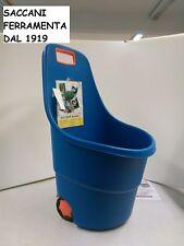 CARRELLO GIARDINO PLASTICA PORTAPELLET con ruote,  40 LT  portalegna, foglie ...