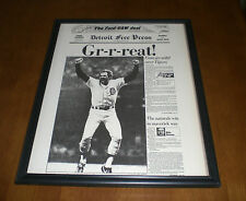 1984 DETROIT TIGERS WIN WORLD SERIES FRAMED 11x14 NEWSPAPER PRINT