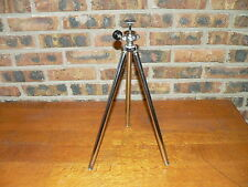 "Vintage 48"" Telescoping Aluminum & Brass Spike-Footed Camera Tripod"