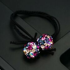 Hair Rope Wrap use Swarovski Crystal Ball Hairpin Ponytail Holder Multi Color