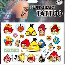 1x Angry Birds Tatuaggio Temporaneo foglio Bambini Bambini Festa Di Compleanno Borsa Filler