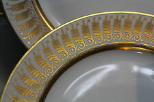 Porcelaine de Limoges, 12 assiettes style Empire