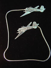 Silver Pewter 'WW II Style AIRPLANE' Bookmark Aviation
