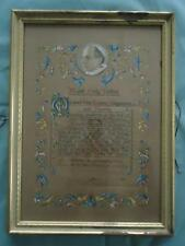 Vtg Framed Papal Blessing Pope Pius XII 12th Catholic Seal Signed Hand Painted
