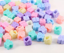 50 x Pastel Coloured BUTTERFLY Beads 10mm DIY Jewellery Craft Kawaii