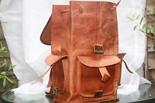GENUINE LEATHER BACKPACK RUCKSACK SHOULDER EVERYDAY BAG PARTY VINTAGE STYLE