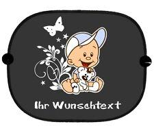 Autosonnenschutz Sonnenblende  Babyaufkleber Motiv, Wunschtext GSO28