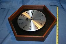 Vintage Verichron Wall Clock Hexagon: Wood