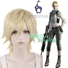 Resident Evil 6 Sherry Birkin Blonde Straight Anime Cosplay Wig