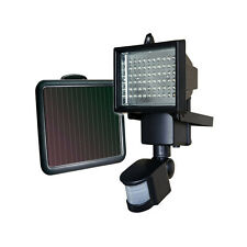 60 LED Motion Sensor Solar Powered Outdoor Garden Security Flood Light Spot Lamp