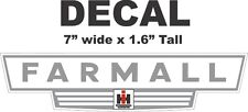 1 Gray International Harvester IH Tractor Farmall Vinyl Decal