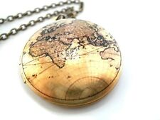 Vintage Antique Medallion World Travel 3 - Medallion Necklace for a Perfect Gift