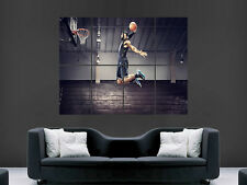 LeBron James Slam Dunk Basketball Deporte Póster Gigante Pared Imagen Grande