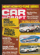 Car Craft Magazine Pro Stock Van Put-Ons Bill Jenkins May 1974  FREE US S/H