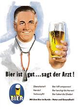 Bier ist gut sagt der Arzt Blechschild 8x11 cm Blechkarte Sign PC-201/481